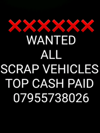 ❌❌❌WANTED ALL SCRAP VEHICLES ❌❌❌