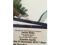 James Blake ticket London 1/11/16