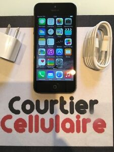 ***VOIR DESCRIPTION*** iPhone 5 16gb noir d??verrouill??