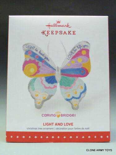 2015 Caring Bridge Light And Love Glass Butterfly CHRISTMAS KEEPSAKE ORNAMENT