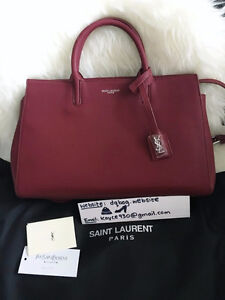 161585d82a5d Yves Saint Laurent Burgundy Rive Gauche Leather tote YSL bag
