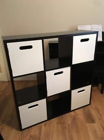 black & white storage cube