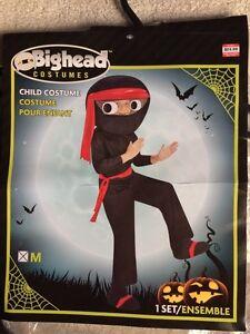Child's Big Head Ninja Costume