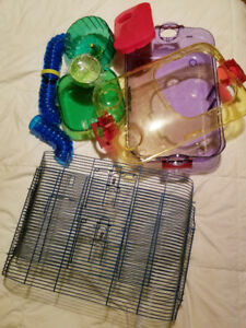 Tons of hamster equipment! Needs to go! *cages and accessories*
