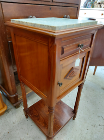 Marbled Topped Tall French Cabinet