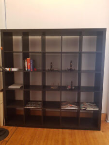 Ikea expedit shelving Brown/Black 5 x 5