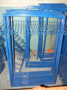 Blue enameled steel wire baskets and steel frames London Ontario image 2