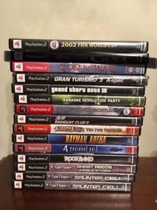 Jeux PS2 à 5$ chacun