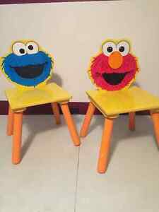 Elmo and Cookie Monster chairs Windsor Region Ontario image 1