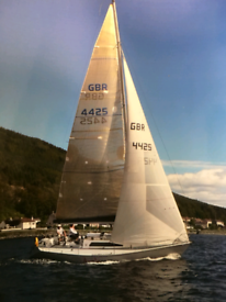 MGRS 34 Racer/Cruiser Yacht well maintained with large sail wardrobe
