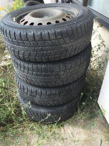 215/60/17 tires and rims- 50% thread- 200 obo Cambridge Kitchener Area image 1