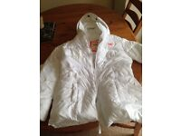 Hollister ladies White Coat - Size medium