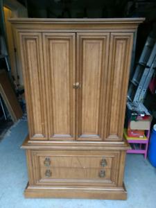 Antique 4-piece set: Storage Armoire and Dresser - 1967