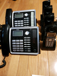 RCA 2 line expandable phone system