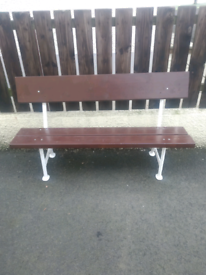 Old Cast Iron Ended Garden Bench