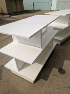 White Display tables clean and good condition