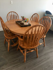 Bass River solid oak table and chairs