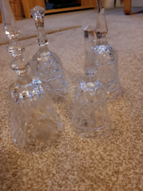 Glass bell shapes some with clangers