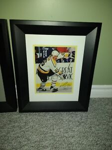 Mario Lemieux Autographed 8x10 Framed and Matted signed