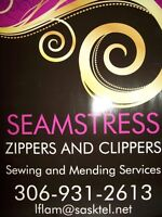 ZIPPERS AND CLIPPERS-Seamstress and repairs
