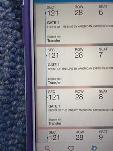 Kanye West Aug 31 @ACC -4 tickets Sec.121