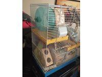 Full starter kit for hamster rat pet cage x2