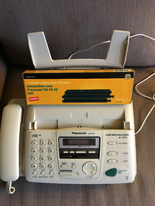 Panasonic fax, scanner, copier, answering, with 2x film refills