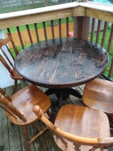 Wooden dinning room table set