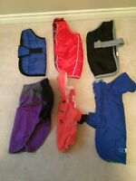 Lot of size medium pet clothes/coats