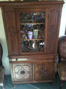 Dishes and china cabinet