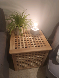 IKEA wooden side table/ storage box