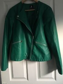 **Ladies faux leather jacket**
