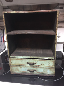Dr. Scholl's Metal Display Cabinet w/Drawers