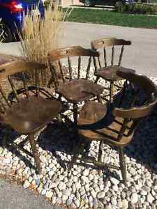 4 antique solid wood chairs- make an offer