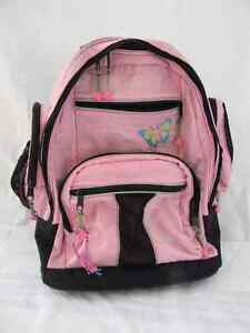 LL BEAN BACKPACK WITH WHEELS PINK WITH BUTTERFLY