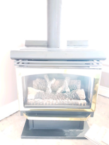 Direct vent natural gas fireplace.