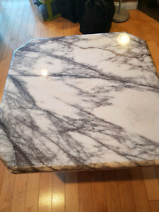 2 piece marble table