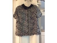 Therapy black and white blouse 10