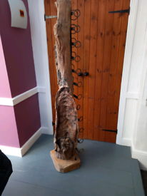Rustic driftwood wine rack