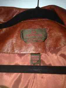 Leather sierra( red- orange) small jacket Danier leather St. John's Newfoundland image 1