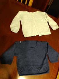 Free baby jumpers/cardigans 6+ months