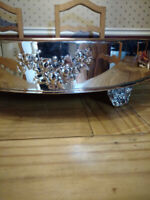Elegant Silver Plated Wedding Cake Stand, 18 in. Diameter $125.