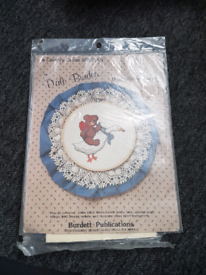 Brand new never been used or opened cross stitch bear riding goos