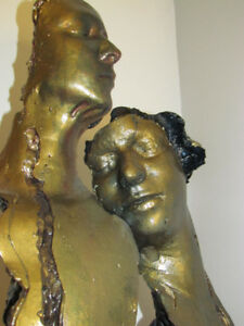 SIGNED SERGE GOUIN SCULPTURE.. 7 FT. TALL