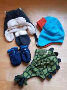 Winter mitts and hats