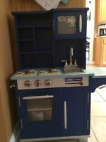 Wood Play Kitchen and Accessories