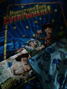 Twin size Toy Story bedding