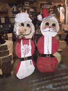 mr and mrs Claus  Christmas decoration Strathcona County Edmonton Area image 2
