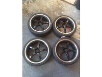 "19"" Audi vw skoda ,fox racing wheels and tyres 235-35-19"