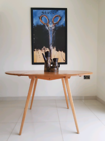Mid Century Ercol Blonde Drop Leaf Table